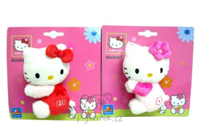 Plyšová hračka: Větší Hello Kitty na ledničku plyšová | Sanrio