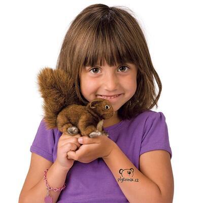 Plyšová hračka: Veverka na prst plyšová | Folkmanis