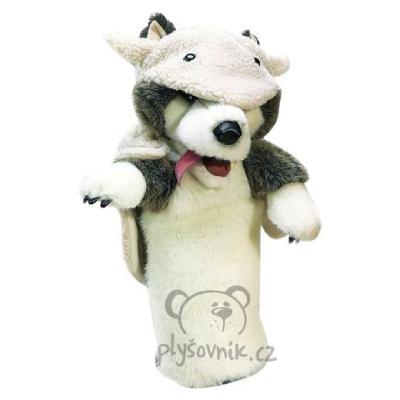 Plyšová hračka: Vlk v rouše beránčím maňásek na ruku plyšový | Folkmanis