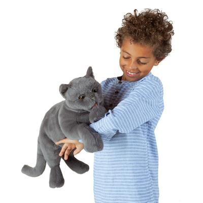 Plyšová hračka: Vrnící britská krátkosrstá kočka plyšová | Folkmanis