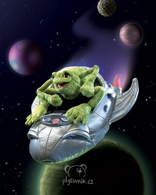Plyšová hračka: Žába kosmonaut plyšová | Folkmanis