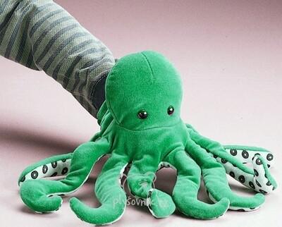 Plyšová hračka: Zelená chobotnice plyšová | Folkmanis