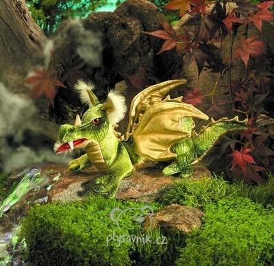 Plyšová hračka: Zelený drak plyšový | Folkmanis