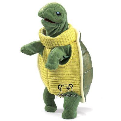 Plyšová hračka: Želva s rolákem plyšová | Folkmanis