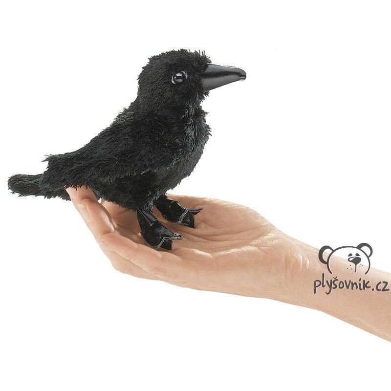 Havran na prst plyšový 17cm Folkmanis | skladem