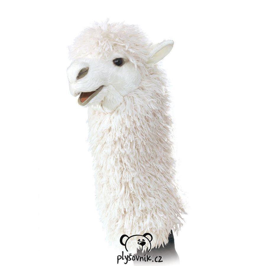 Lama alpaka maňásek na ruku plyšová 38 × 22 × 15cm Folkmanis | skladem