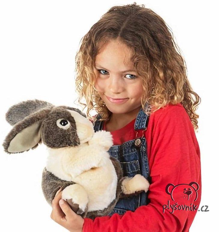 Holanský zakrslý králík plyšový 25cm Folkmanis | skladem