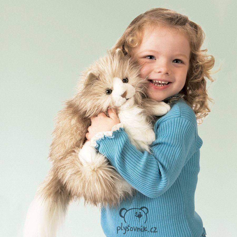 Velká kočka Fluffy plyšová 30cm Folkmanis
