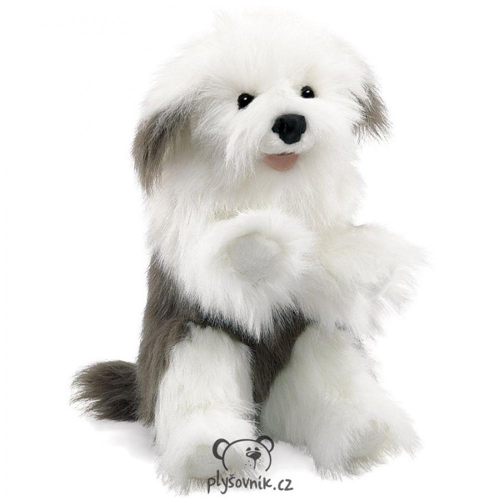 Staroanglický ovčácký pes plyšový 55 × 27 × 15cm Folkmanis