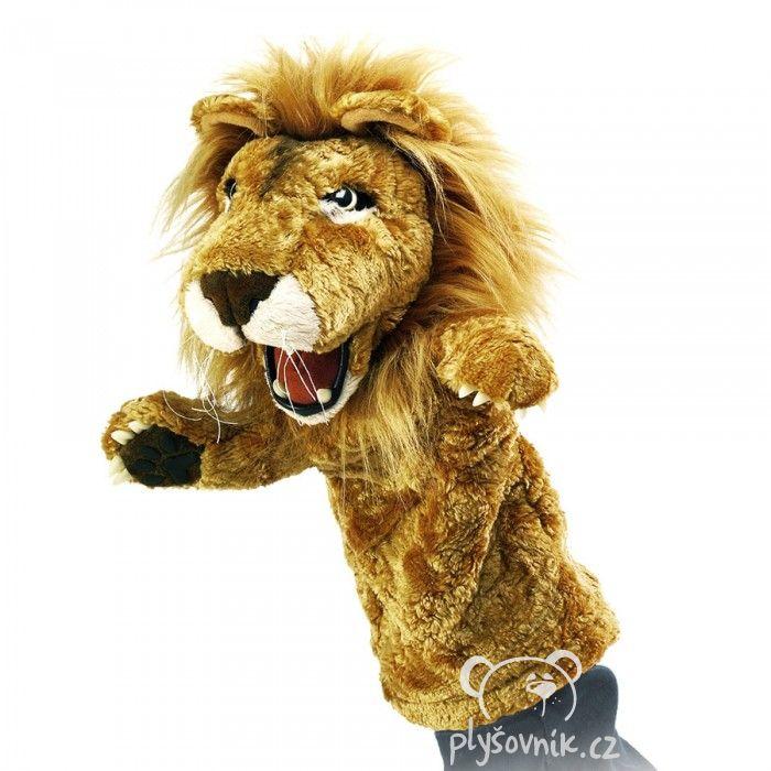 Maňásek lev plyšový 33cm Folkmanis | skladem