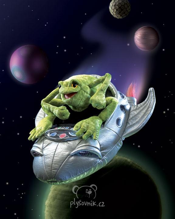 Žába kosmonaut plyšová 33cm Folkmanis