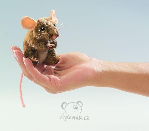 Myš na prst plyšová 10cm Folkmanis   skladem