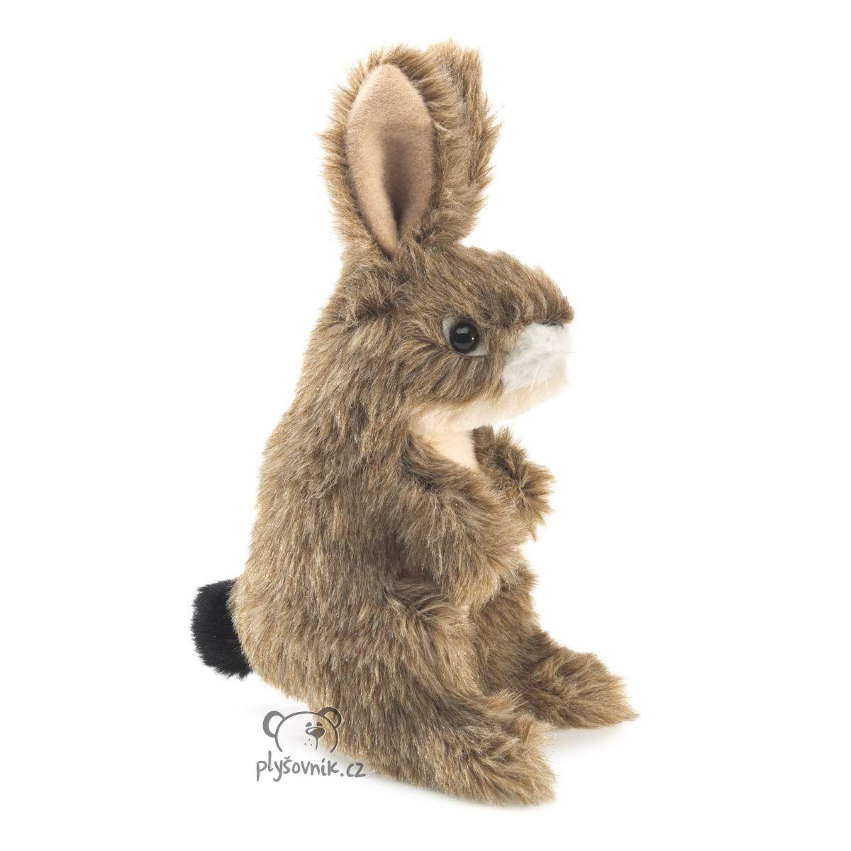 Maňásek na prst zajíc plyšový 15cm Folkmanis