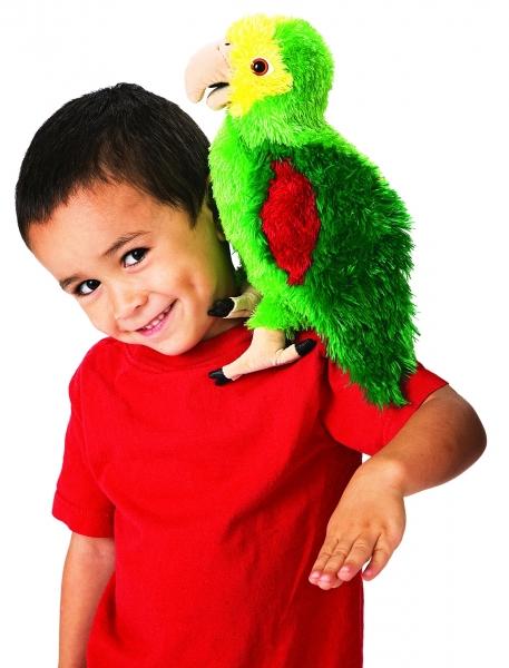 Papoušek amazoňan plyšový 35cm Folkmanis | skladem