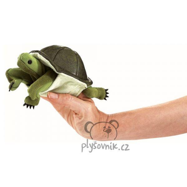 Želva na prst plyšová 15cm Folkmanis