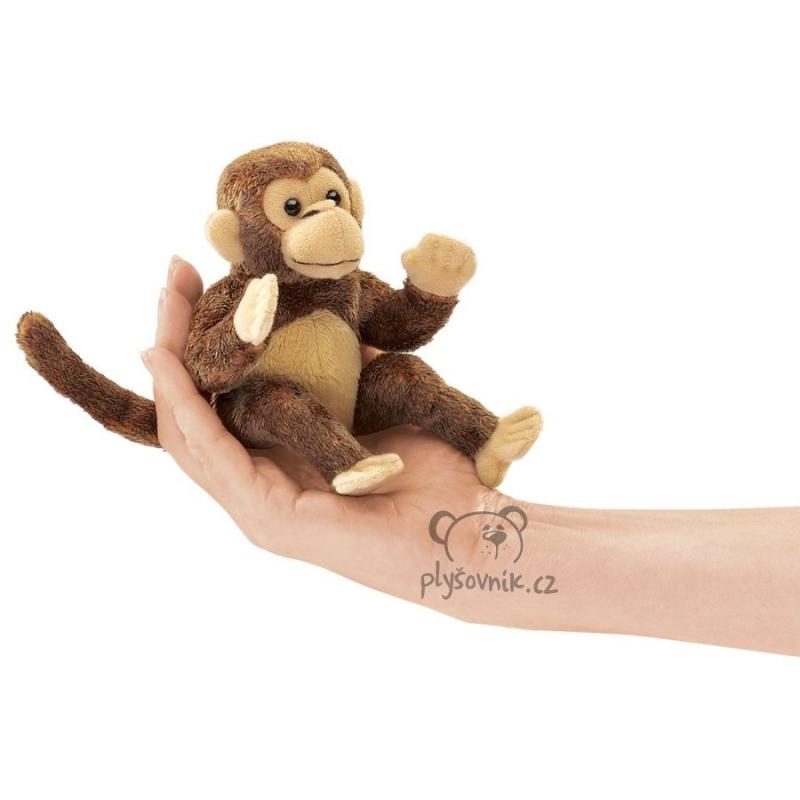 Opice na prst plyšová 12cm Folkmanis