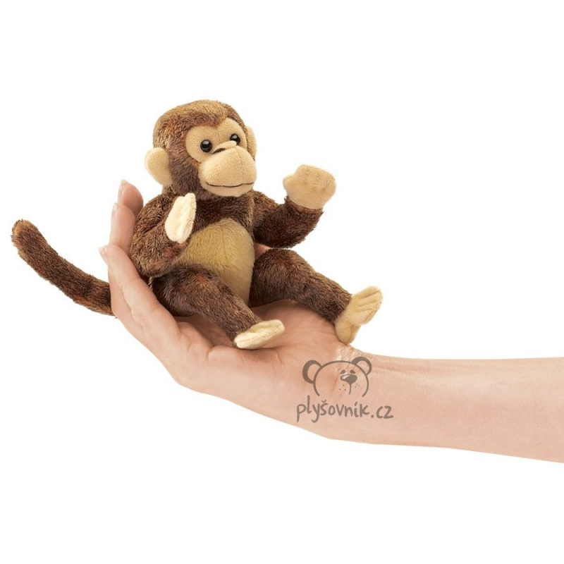 Opice na prst plyšová 12cm Folkmanis | skladem