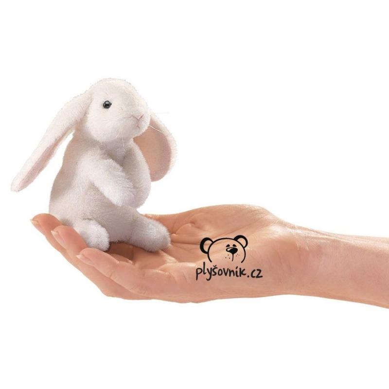 Králík beránek na prst plyšová 10 × 10 × 8cm Folkmanis