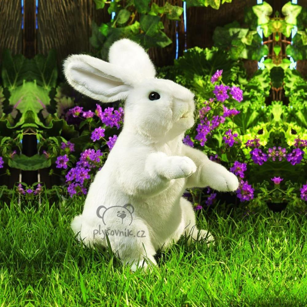 Bílý králíček ušáček plyšový 42 × 25 × 20cm Folkmanis | skladem