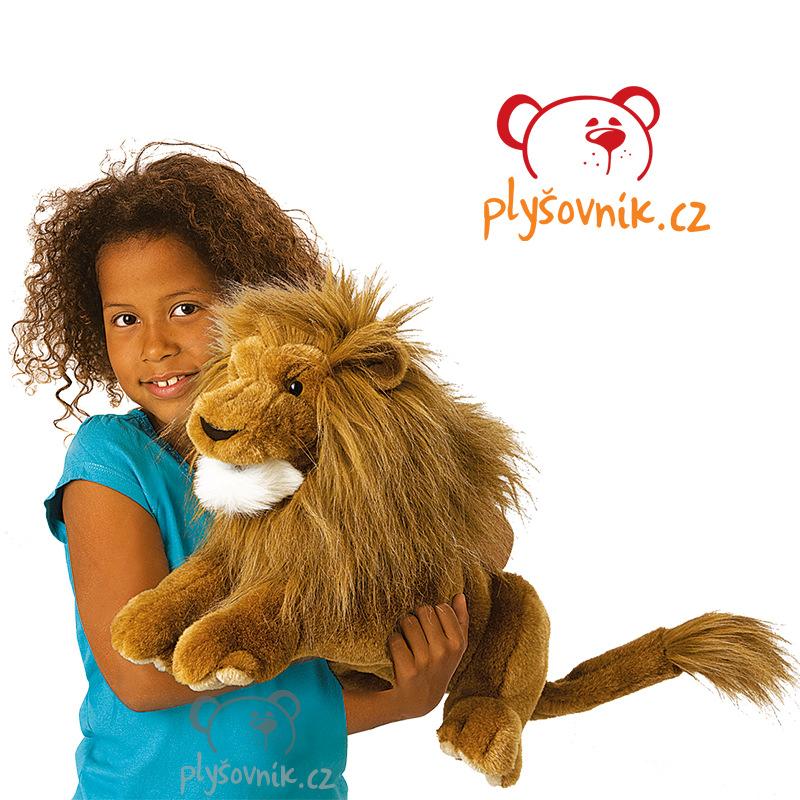 Velký lev plyšový 40 × 25 × 20cm Folkmanis   skladem