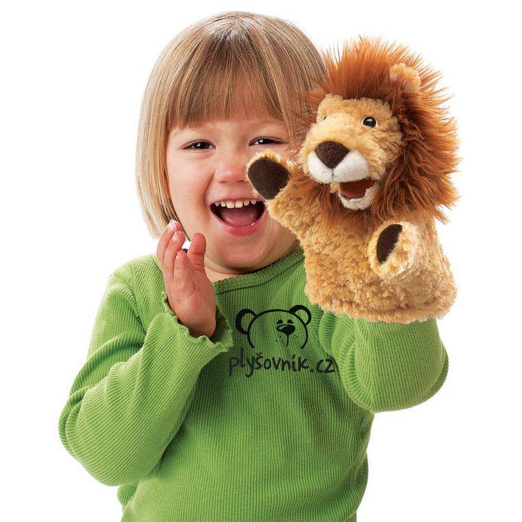 Lvíček na ruku plyšový 17 × 12 × 12cm Folkmanis | skladem