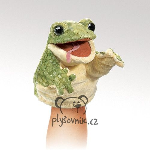 Menší žabák maňásek plyšák 12 × 10 × 10cm Folkmanis
