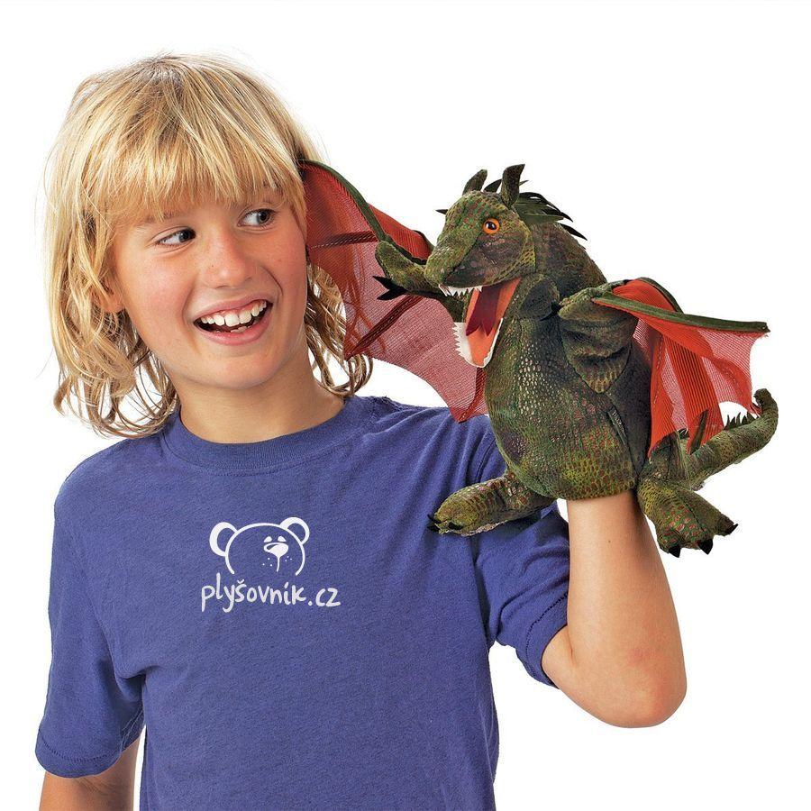 Okřídlený drak plyšový 38,1 × 30,5 × 22,9cm Folkmanis | skladem