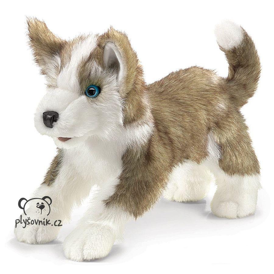 Štěně vlka plyšový 32 × 20 × 17cm Folkmanis