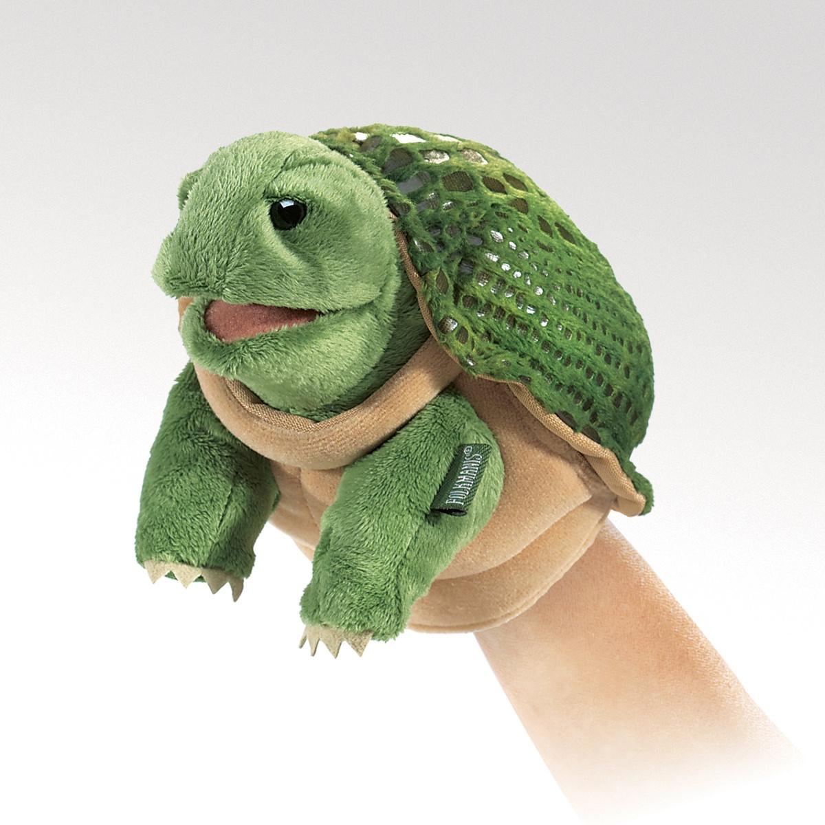 Želva maňásek na ruku plyšový 12,5 × 18 × 15cm Folkmanis