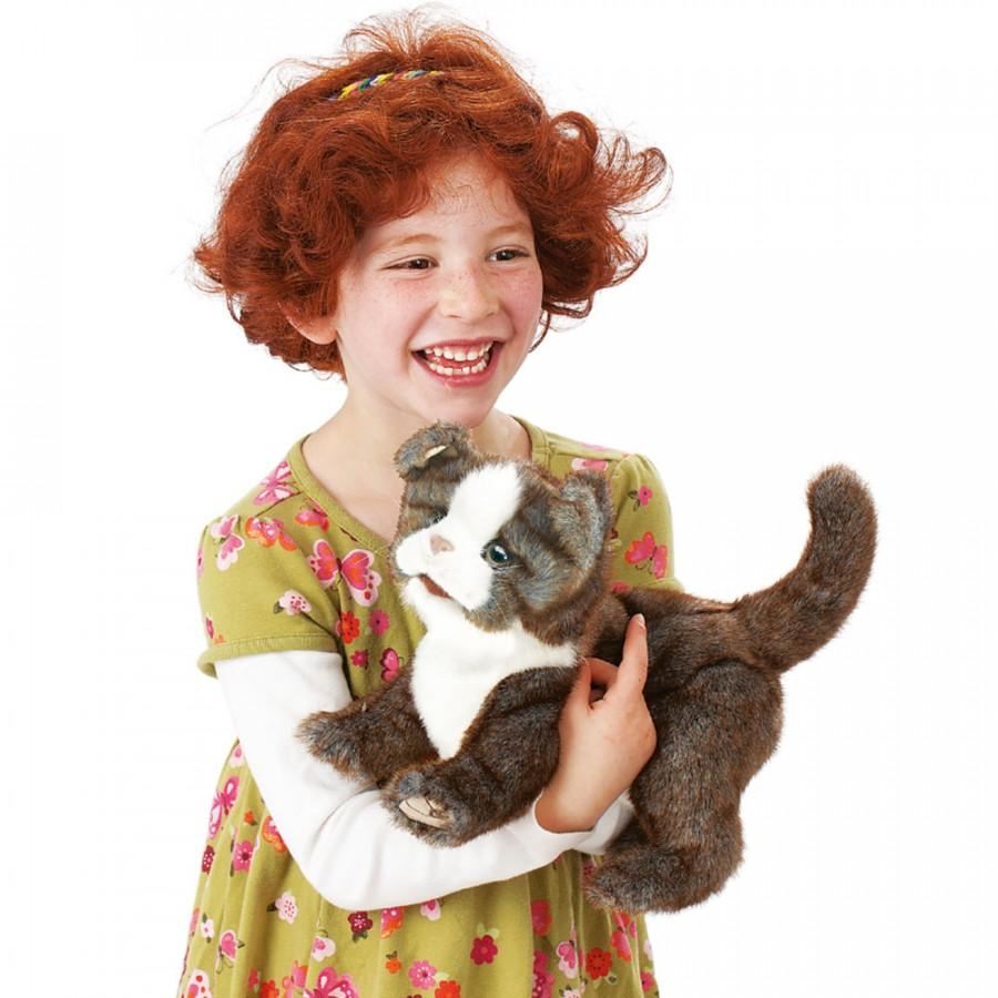 Skotská klapouchá kočka plyšový 30 × 15 × 25cm Folkmanis | skladem