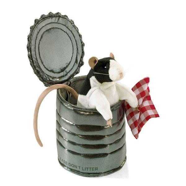 Potkan v plechovce plyšový Folkmanis