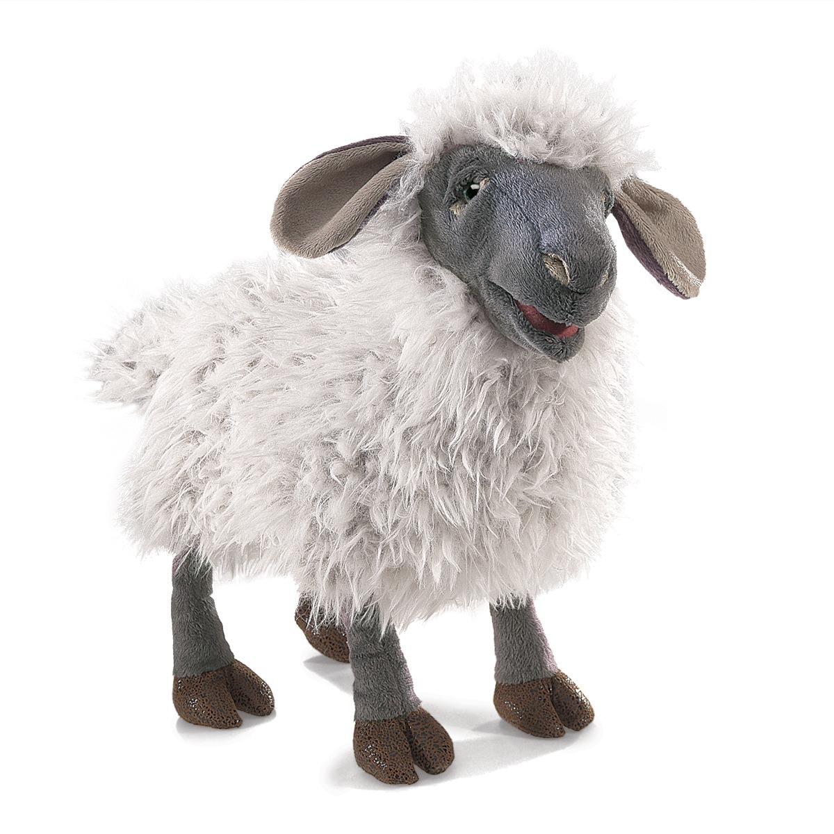 Ovce Wensleydale plyšová 38 × 20 × 17,5cm Folkmanis | skladem