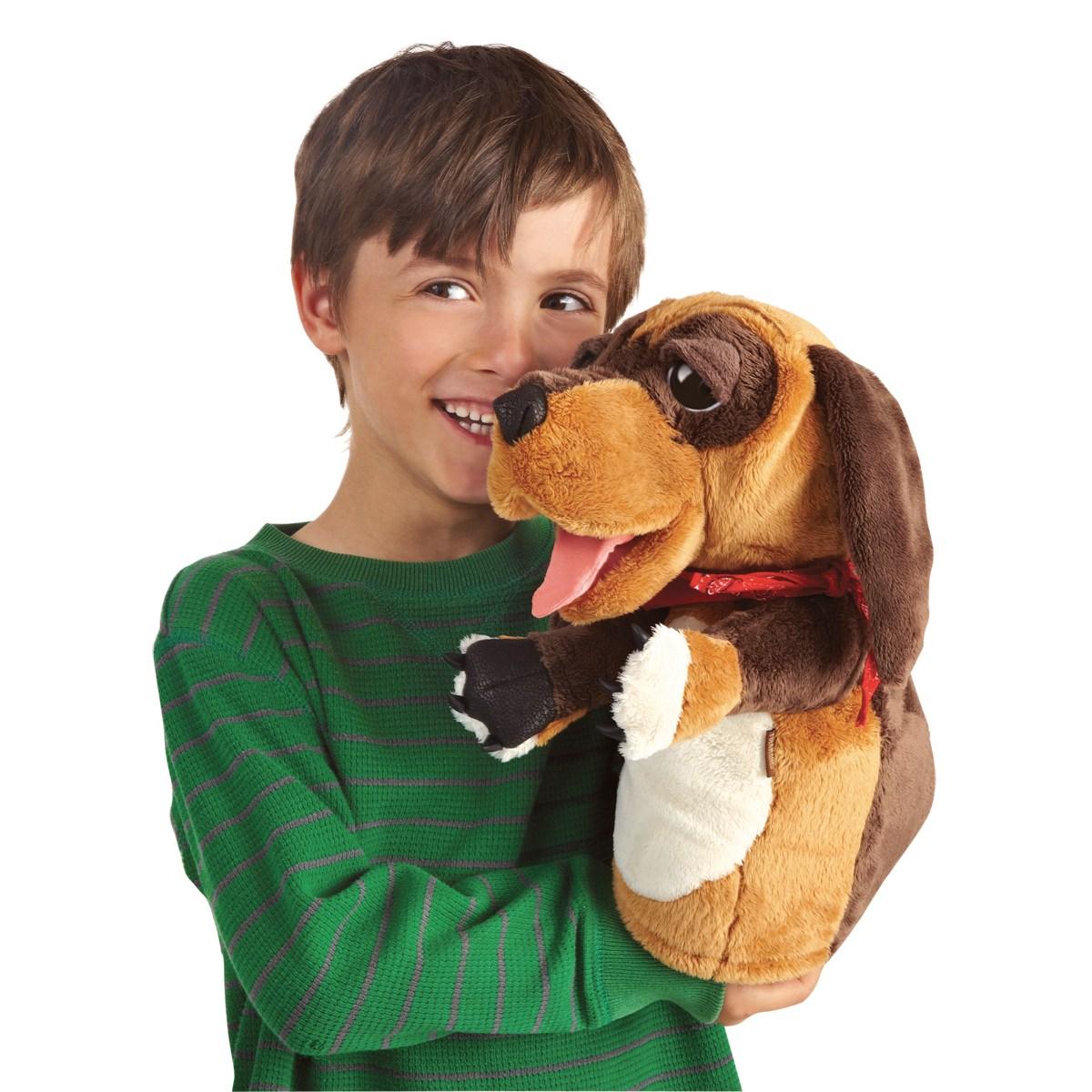 Maňásek pes plyšový 37 × 35 × 20cm Folkmanis
