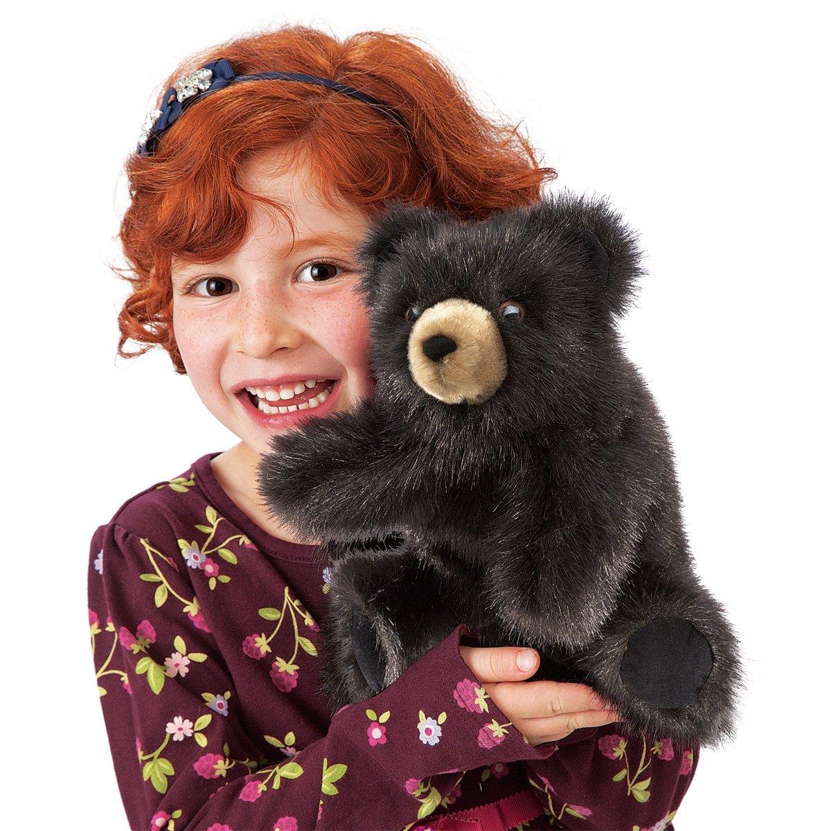 Malý medvěd baribal plyšový 22 × 20 × 15cm Folkmanis
